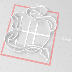 Download free 3D printing designs Simple Descendants Cookie Cutter, 3dhstudio