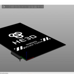 Download free STL file HE3D Heated Bed For Slic3r PE (Bed shape just to improve the preview) • 3D printer model, 3dhstudio
