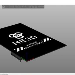 Télécharger STL gratuit Lit chauffant HE3D pour Slic3r PE (forme du lit juste pour améliorer l'aperçu), 3dhstudio