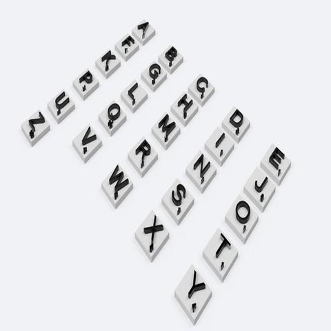 3D printer files SCRABBLE 3D Letters for English version board game stl file , 3dlettersandmore