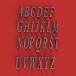 Imprimir en 3D Escriba las letras mayúsculas de la fuente de letras 3D Archivo STL, 3dlettersandmore