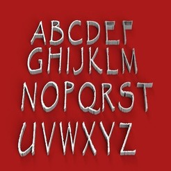 Download 3D printer model PAPYRUS font uppercase 3D letters STL file, 3dlettersandmore