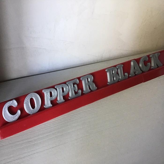 COPPERBLACK1.jpg Download free STL file Test COPPER BLACK font  3d letters  free download • 3D print design, 3dlettersandmore