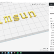 3D printing model SIMSUN font uppercase and lowercase 3D letters STL file, 3dlettersandmore