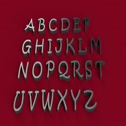 3D printer files KRISTEN font uppercase 3D letters STL file, 3dlettersandmore