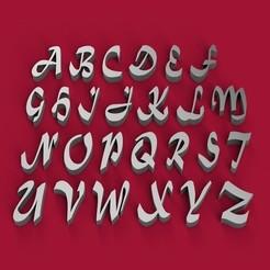 Fichier STL Fichier STL 3D de lettres majuscules de la police MATURA, 3dlettersandmore