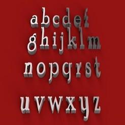 Download 3D model POOR RICHARD font lowercase STL file, 3dlettersandmore
