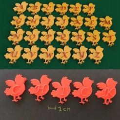 Impresiones 3D POLLO DE PASCUA 3d letras STL archivo, 3dlettersandmore