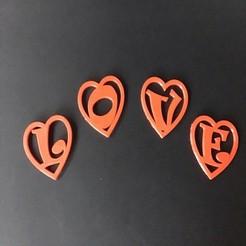 Impresiones 3D CORAZÓN VACÍO Día de San Valentín 3d letras STL archivo, 3dlettersandmore