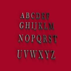 Descargar archivos 3D BASKERVILLE letra mayúscula 3D letras archivo STL, 3dlettersandmore