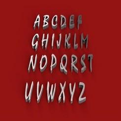 Download STL MISTRAL font uppercase 3D letters file , 3dlettersandmore