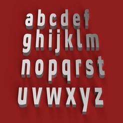 rendermin.jpg Télécharger fichier STL CONVECTION BOLD Fontes minuscules 3D lettres minuscules Fichier STL • Objet à imprimer en 3D, 3dlettersandmore