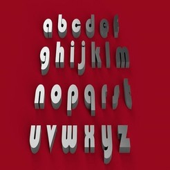 Download 3D printing files BAUHAUS font lowercase 3D letters STL file, 3dlettersandmore