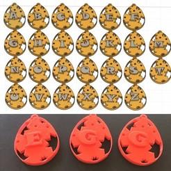 Descargar modelos 3D para imprimir EGG EASTER 3d letras STL archivo, 3dlettersandmore