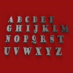 Fichier 3D GOUDYSTOUT police de caractères lettres majuscules 3D fichier STL, 3dlettersandmore