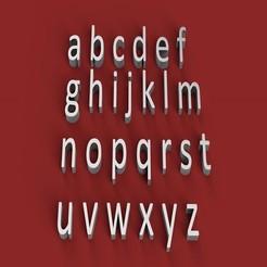 rendermin.jpg Télécharger fichier STL CALIBRI police minuscules 3D lettres minuscules fichier STL • Plan pour imprimante 3D, 3dlettersandmore