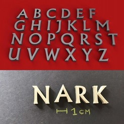 foto.jpg Download STL file NARK font uppercase 3D letters STL file • 3D printable design, 3dlettersandmore