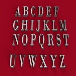 Download 3D printer designs BODONI font uppercase 3D letters STL file, 3dlettersandmore