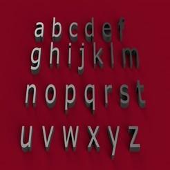 Plan imprimante 3D VERDANA police minuscules 3D lettres minuscules fichier STL, 3dlettersandmore