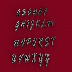 RAGEITALIC.jpg Download STL file RAGE ITALIC font uppercase 3D letters STL file • 3D print design, 3dlettersandmore