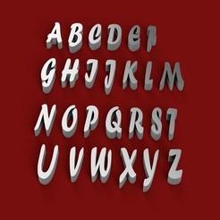 Download 3D printing models FORTE font uppercase 3D letters STL file , 3dlettersandmore