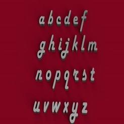 Download 3D printing models HARLOW font lowercase 3D letters STL file, 3dlettersandmore