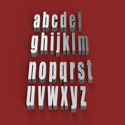 Descargar modelos 3D para imprimir IMPACT letras minúsculas 3D letras STL archivo, 3dlettersandmore