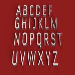 RENDER.jpg Télécharger fichier STL CONVECTION police de caractères lettres majuscules 3D fichier STL • Modèle à imprimer en 3D, 3dlettersandmore