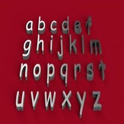 Télécharger fichier impression 3D COMIC SANS police de caractères minuscules 3D lettres minuscules fichier STL, 3dlettersandmore