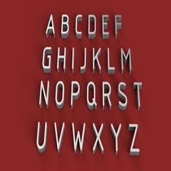 RENDER.jpg Télécharger fichier STL Fichier STL 3D de lettres majuscules de la police GOST • Plan à imprimer en 3D, 3dlettersandmore