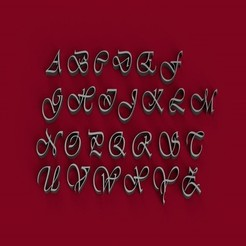 Télécharger objet 3D Fichier STL de lettres 3D majuscules de la police VIVALDI, 3dlettersandmore