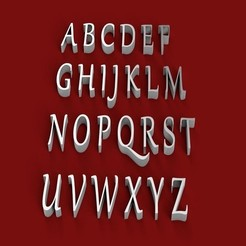 3D print model GABRIOLA font uppercase and lowercase 3D letters STL file, 3dlettersandmore