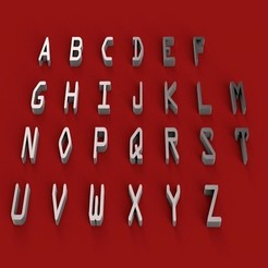 Download 3D print files OCRA font uppercase STL file 3D, 3dlettersandmore