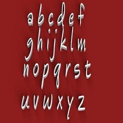rendermin.jpg Télécharger fichier STL ÉBAUCHE DE L'ENCRE Police de caractères minuscules Fichier STL lettres 3D • Design pour impression 3D, 3dlettersandmore