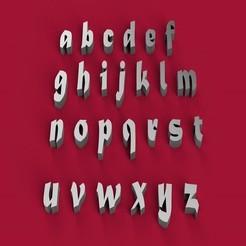 Download STL file MATURA font lowercase 3D letters STL file, 3dlettersandmore