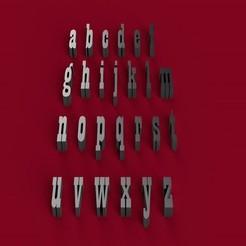 STL PLAYBILL font lowercase 3D letters STL file, 3dlettersandmore