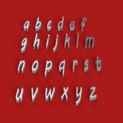 Download 3D printer files MVBOLI font lowercase 3D letters STL file, 3dlettersandmore