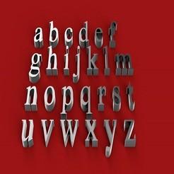 rendermin.jpg Télécharger fichier STL ISKOOLA Police de caractères minuscules lettres 3D fichier STL • Plan pour imprimante 3D, 3dlettersandmore