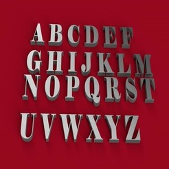 Descargar modelos 3D Fuente ELEPHANT letras mayúsculas 3D archivo STL, 3dlettersandmore