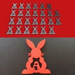 Descargar diseños 3D RABBIT EASTER 3d letras STL archivo, 3dlettersandmore