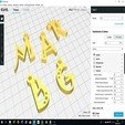 Download 3D printing designs 3d letters for keychain and more, 3dlettersandmore