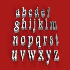Download 3D printer templates FOOTLIGHT font lowercase 3D letters STL file, 3dlettersandmore