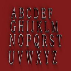 RENDER.jpg Télécharger fichier STL BATANG police de caractères lettres majuscules 3D fichier STL • Plan pour impression 3D, 3dlettersandmore