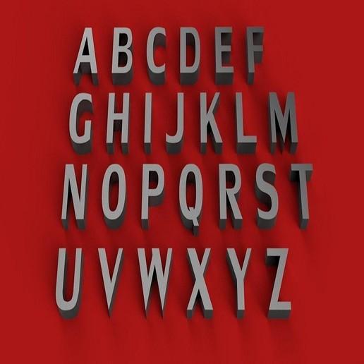 RENDER.jpg Download free STL file LILY font uppercase 3D letters STL file • 3D printing model, 3dlettersandmore