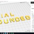 Archivos 3D ARIAL ROUNDED fuente mayúsculas y minúsculas 3D archivo STL, 3dlettersandmore