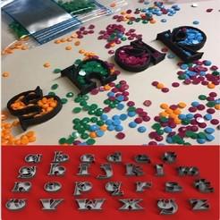Descargar modelos 3D EMPTY SNAP Fuente letras minúsculas 3D Archivo STL Modelo de impresión 3D, 3dlettersandmore