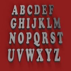 Descargar STL COOPERBLACK letras mayúsculas 3D archivo STL, 3dlettersandmore