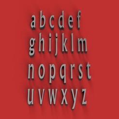 Descargar modelos 3D para imprimir NARK Font letras minúsculas 3D archivo STL, 3dlettersandmore