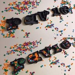 Descargar modelos 3D para imprimir EMPTY RAVIE Letras minúsculas en 3D Archivo STL Modelo de impresión en 3D, 3dlettersandmore