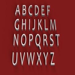 Télécharger objet 3D CANDARA police de caractères 3D lettres majuscules fichier STL, 3dlettersandmore